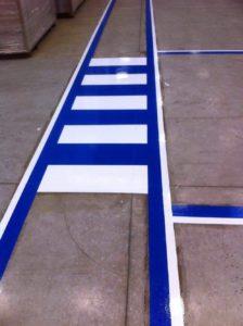 Factory indoor line markings