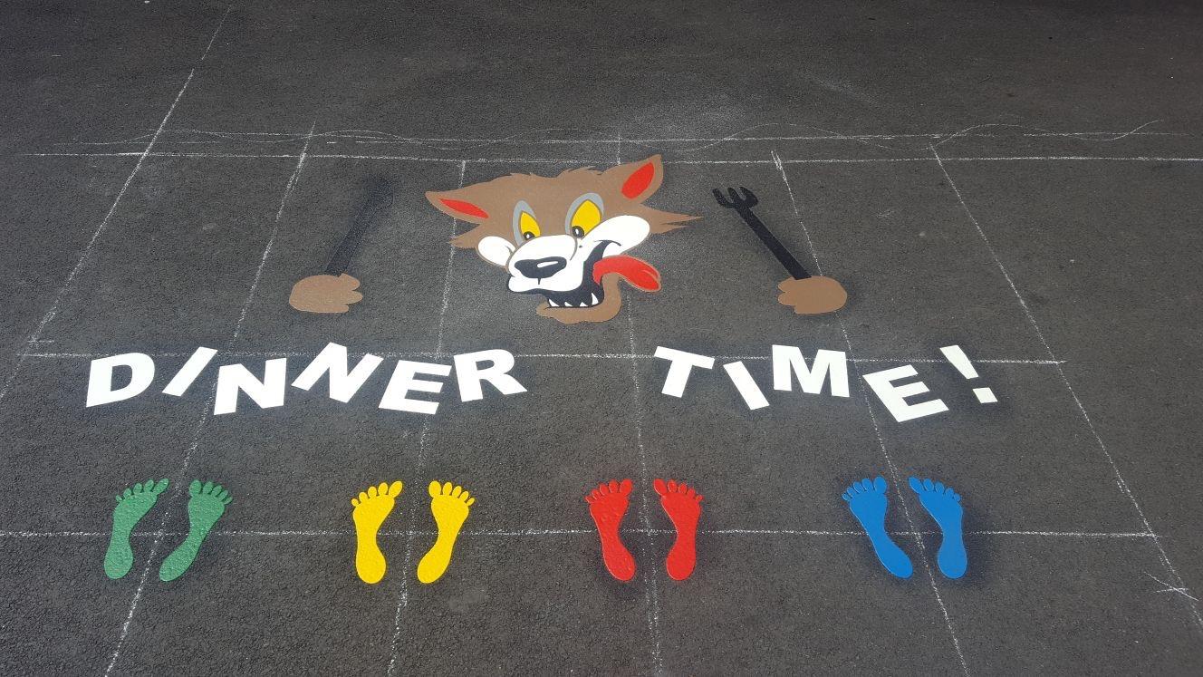 school playground line markings