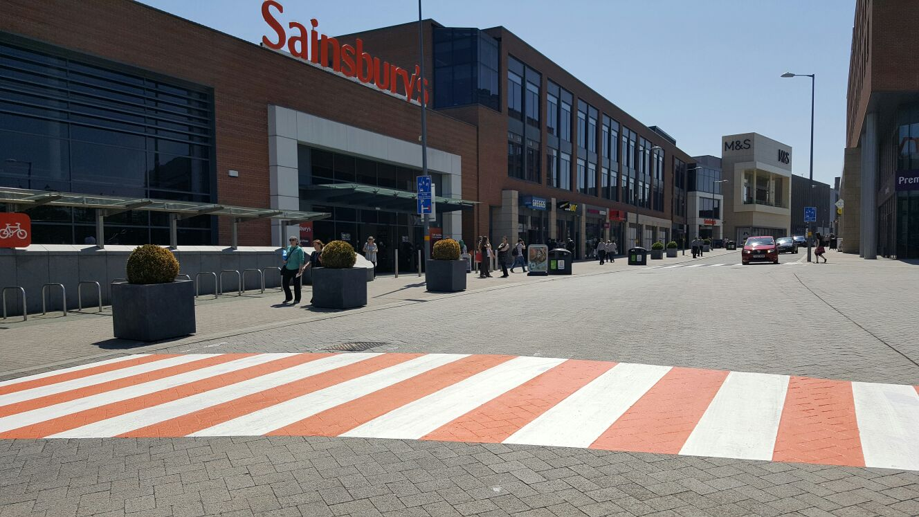 pedestrian crossing line marking services