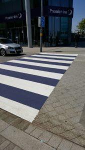 zebra crossing line marking
